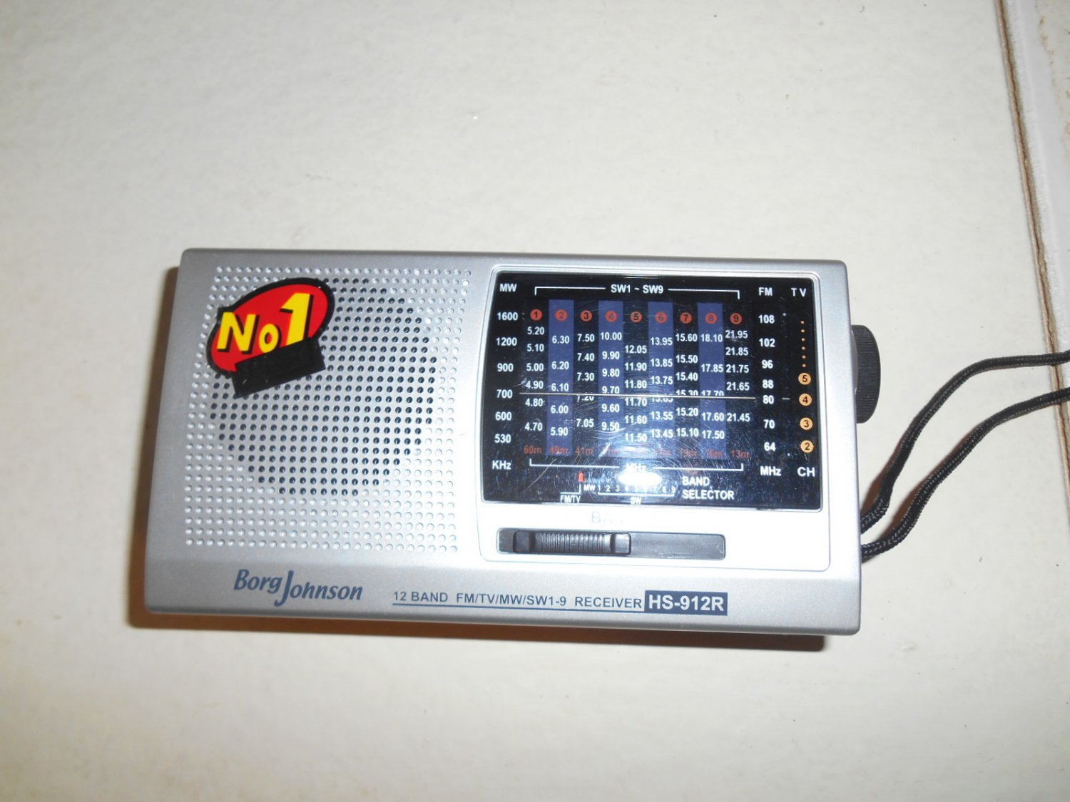 Borg Johnson 12 band FM/TV/MW/SW shortwave receiver HS-912R
