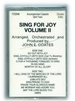 SING FOR JOY VOL 2 John Coates Choral Collection Accompaniment Track Tape