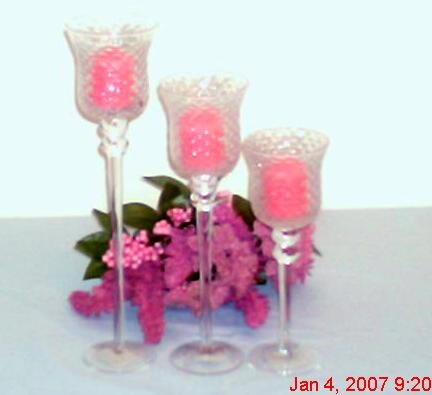 3 Pieces   Set Stem Votive Candle Holder