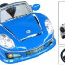 BENZ STYLE, KIDS ELECTRIC, BATTERY POWERED, RIDE ON CAR W/ REMOTE CONTROL - MP3 FUNCTION - BLUE