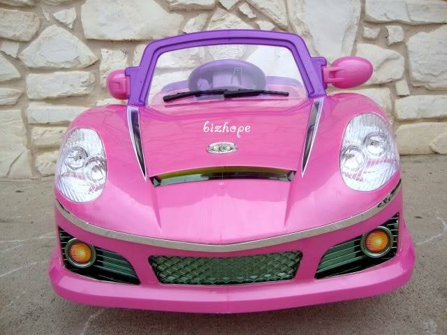 BENZ STYLE, KIDS ELECTRIC, BATTERY POWERED RIDE ON TOYS CAR, REMOTE CONTROL, MP3 FUNCTION - PINK