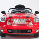 Mini Cooper, Mini Motos, Kids Electric Car w/ Remote Control, Seatbelt, Ride On Toy, MP3, Red
