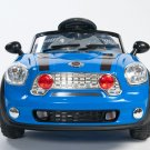 Kids Car, Mini Motos, Mini Cooper, Battery Operated Ride On Toy, MP3, Remote Control, Blue