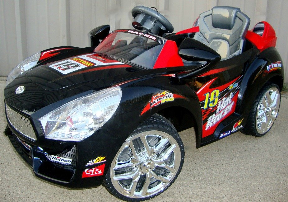 hot racer 19 electric cars for kids 6v kids electric ride on mp3 remote control black