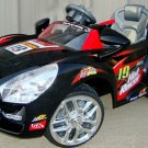 Kids Car, 6V, Hot Racer 19, Battery Operated Ride On Toy, MP3, Remote Control, Black