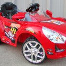 Kids Car, 6V, Hot Racer 19, Battery Operated Ride On Toy, MP3, Remote Control, Red