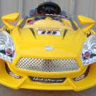 Hot Racer 19, Electric Cars for Kids, 6V, Kids Car, MP3, Remote Control, Yellow