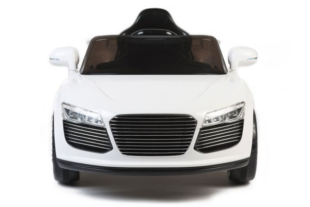 Audi R8 Style, Kids Electric Car, 12V, Ride On, Remote Control, Seatbelt, Mp3 Hookup, White