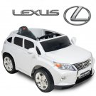 Licensed Lexus RX350, Kids Ride On Car, 12V, Electric, Remote Control, Seatbelt, Mp3 Hookup, White