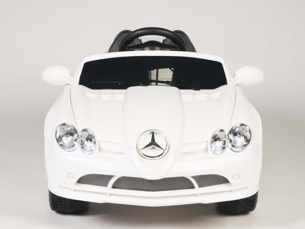 Licensed Mercedes Benz SLR 722S, Kids Ride on Car, 12V, Ride On, Remote, Seatbelt, Mp3, White