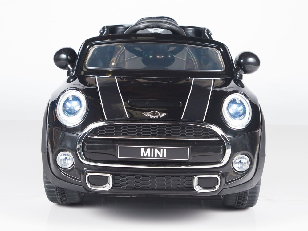 Licensed Mini Cooper, 12V, Kids Electric Car, Remote Control, Seatbelt, MP3,  Black