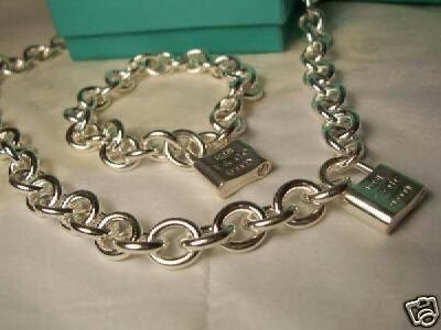 Tiffany & Co. 1837 Lock Necklace & Bracelet