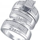 .41ct diamond 3-ring wedding band set