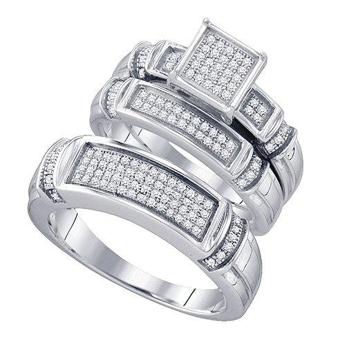 .41ct diamond bridal + groom wedding set