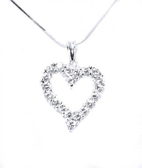 925 Sterling Silver Heart CZ Pendant