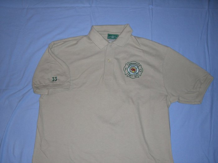 Tan Golf Shirt (L)