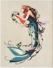 The Queen Mermaid - Cross Stitch Chart