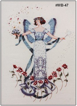 April's Blue Diamond Fairy - Cross Stitch Chart