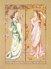 Maidens Of The Seasons I - Spring & Summer - Cross Stitch Chart