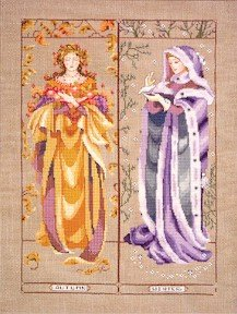 Maidens Of The Seasons II - Fall & Winter - Cross Stitch Chart