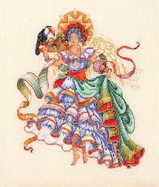 South American Angel - Cross Stitch Chart