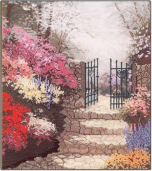 Garden Of Promise by Thomas Kinkade - Cross Stitch Chart