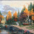 Valley Of Peace by Thomas Kinkade - Cross Stitch Chart