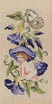 Eyeglass Case Flowerfairy - Cross Stitch Chart