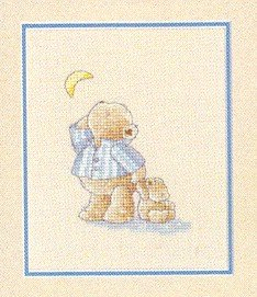 Bedtime Teddies - Cross Stitch Chart