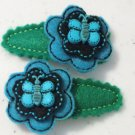 Blue Butterfly Barrettes