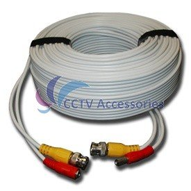 150 FT HEAVY DUTY PREMADE SIAMESE CABLE FOR CCTV CAMERA
