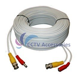 100 FT HEAVY DUTY PREMADE SIAMESE CABLE FOR CCTV CAMERA