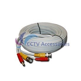 50FT HEAVY DUTY PREMADE SIAMESE CABLE FOR CCTV CAMERA