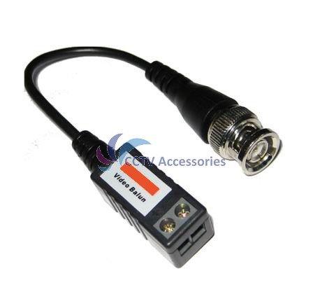 10pcs Mini CCTV BNC pigtail video balun via CAT5e cable