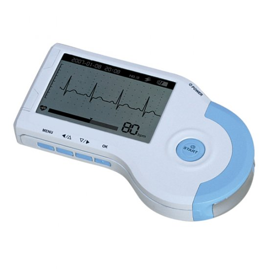 ECG Handheld Heart Rate Monitor with Waveform Display