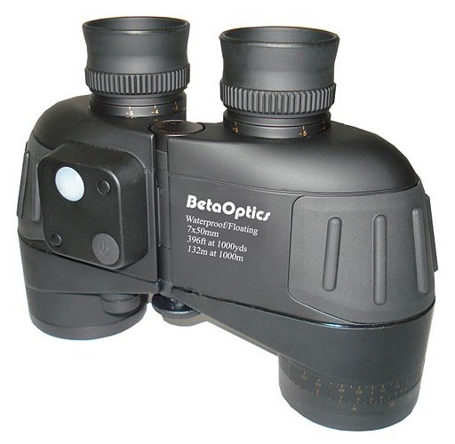 BetaOptics Military Binocular 7x50mm with Waterproof and Compass and range-finding reticle