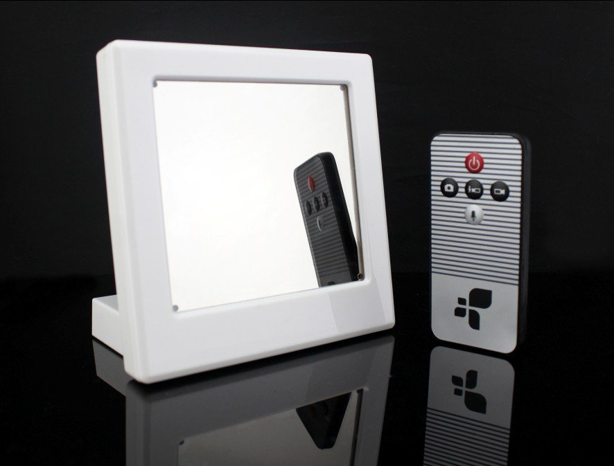 Motion Detection HD Mirror Clock Camera with AC Charger included