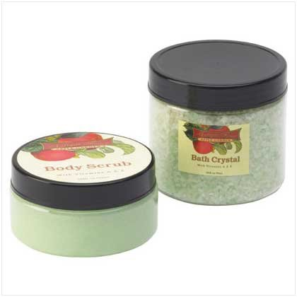 APPLE BODY SCRUB & CRYSTAL SET