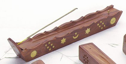 WOOD INCENSE BURNER/HOLDER BOX