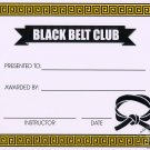 Black Belt Club Certificate - #11385117