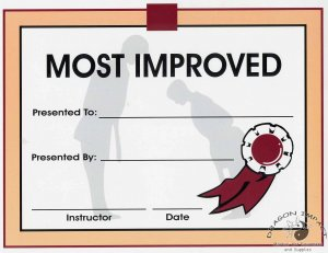 Most Improved Certificate - #11385115