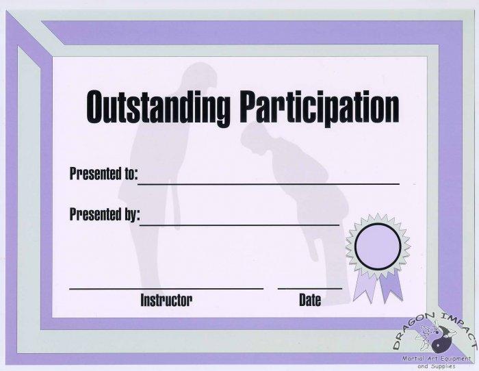 Outstanding Participation Cerificate - #11385114