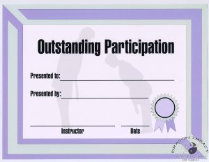 Outstanding Participation Cerificate - #11385114