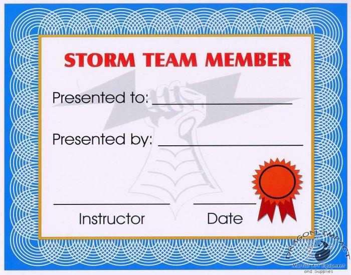 STORM Team Certificate - #11385113