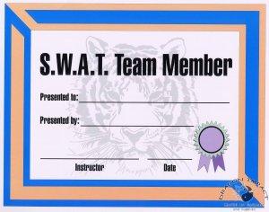 SWAT Team Certificate - #11385112