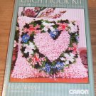 CARON HEART WREATH PILLOW KIT - PINK & PRETTY