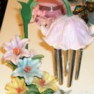 Floral Butterfly Chimes with An Umbrella - Very Pretty