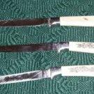 Steak Knives With Floral Design, Vintage