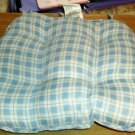 Padded Seat Cushion, Blue Plaid, Comfy, With Ties