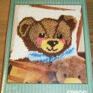 SWEET BEAR LATCH HOOK PILLOW KIT NATURA FROM CARON NIP
